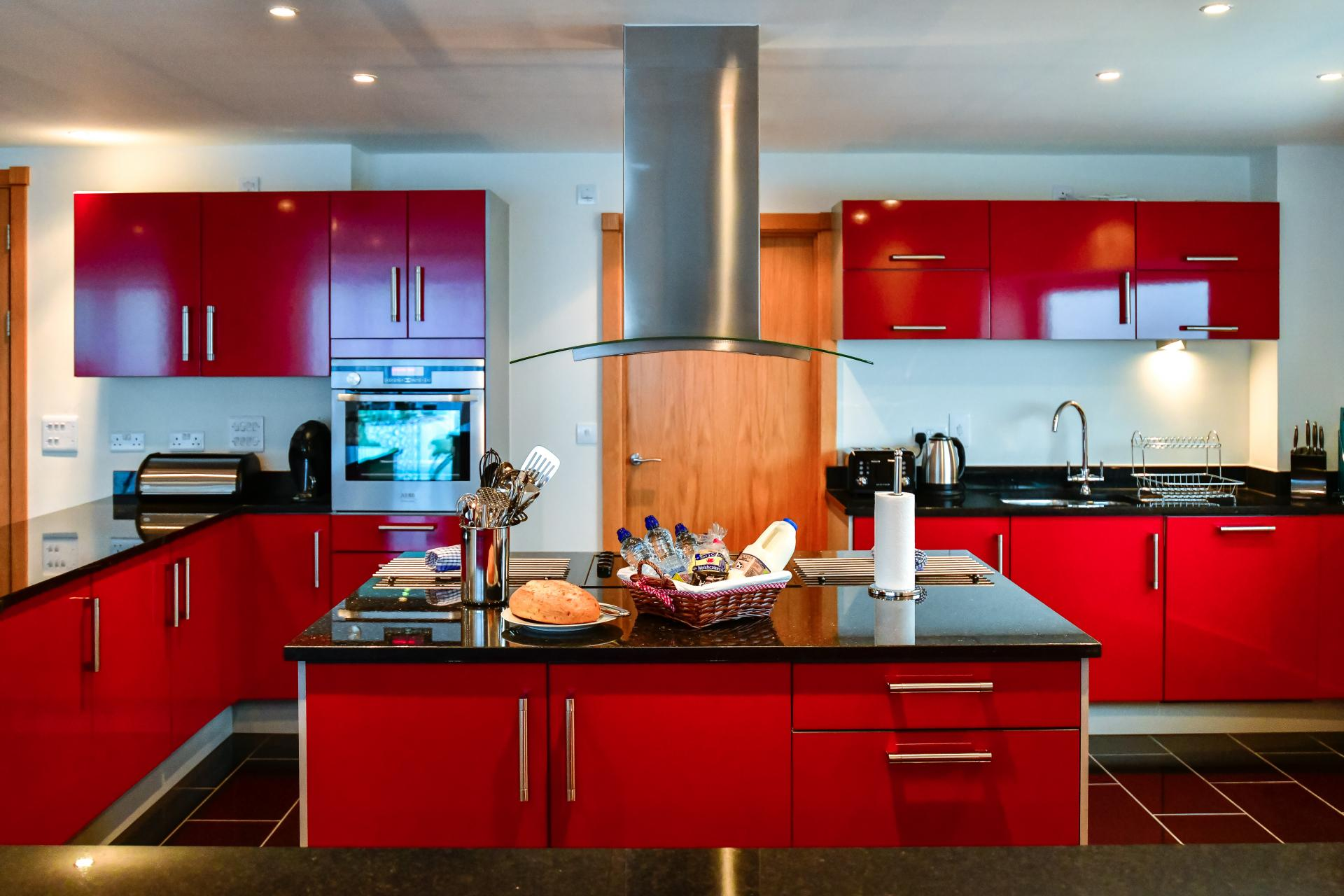 Fully equipped kitchen at Meridian Quay Penthouses, Maritime Quarter, Swansea - Citybase Apartments