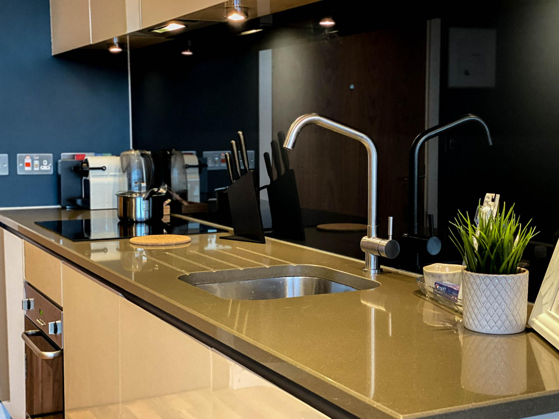 Sink at Milliners Wharf Apartment, New Islington, Manchester - Citybase Apartments