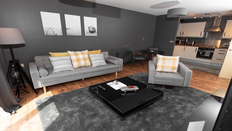 Spacious living arae at City Stay Apartments Hub - Citybase Apartments