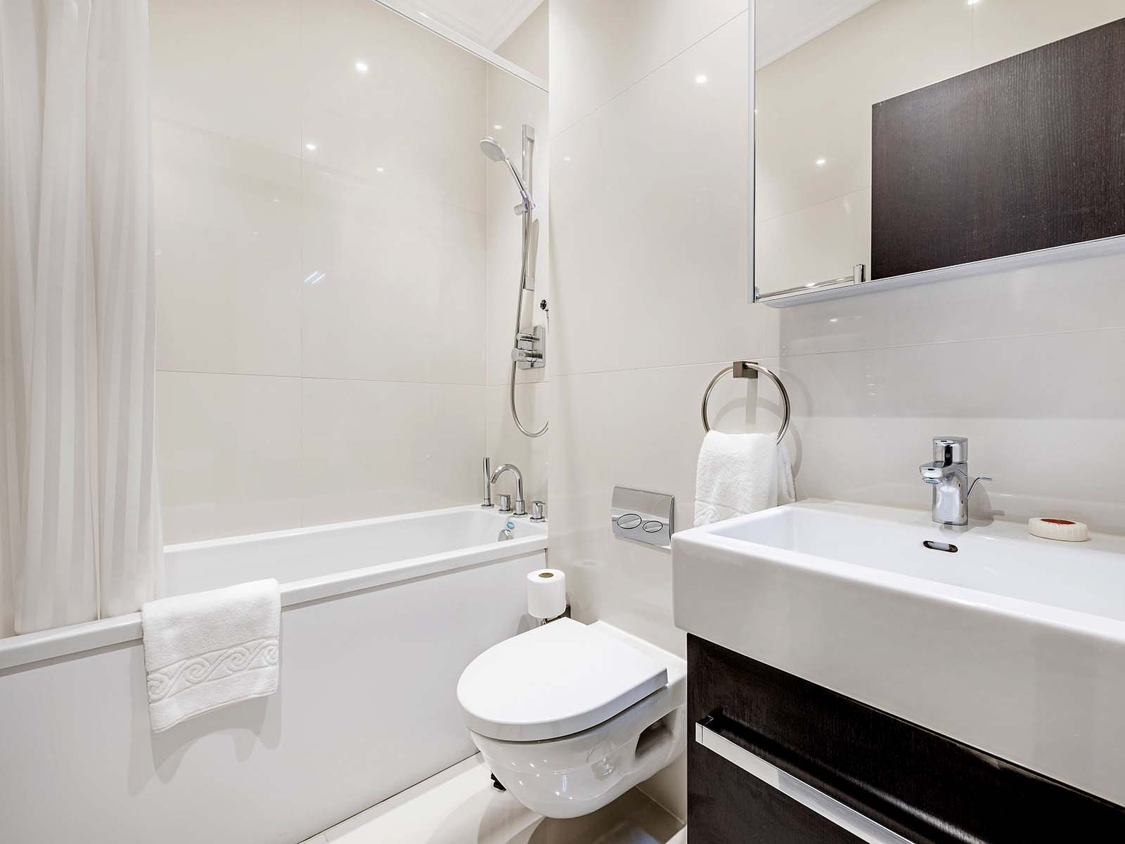 Bathroom at130 Queens Gate Apartments, South Kensington, London - Citybase Apartments