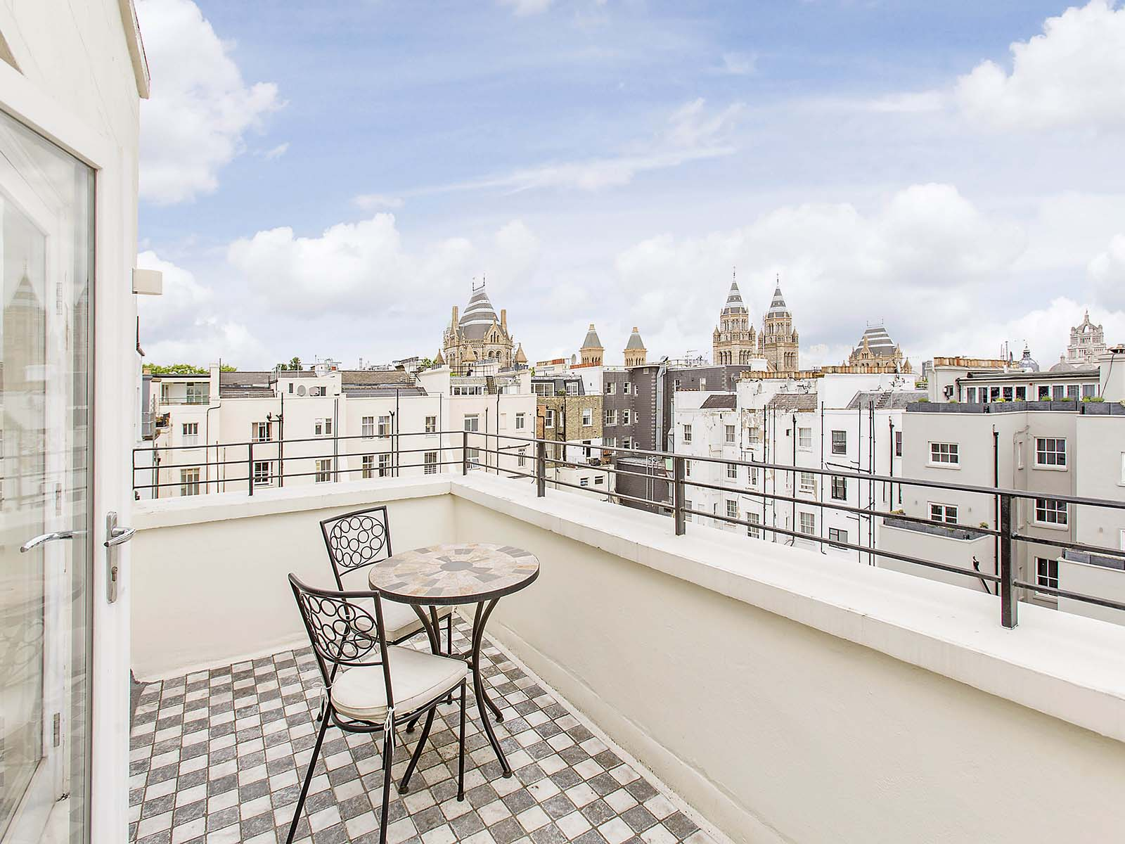 Balcony at 130 Queens Gate Apartments, South Kensington, London - Citybase Apartments