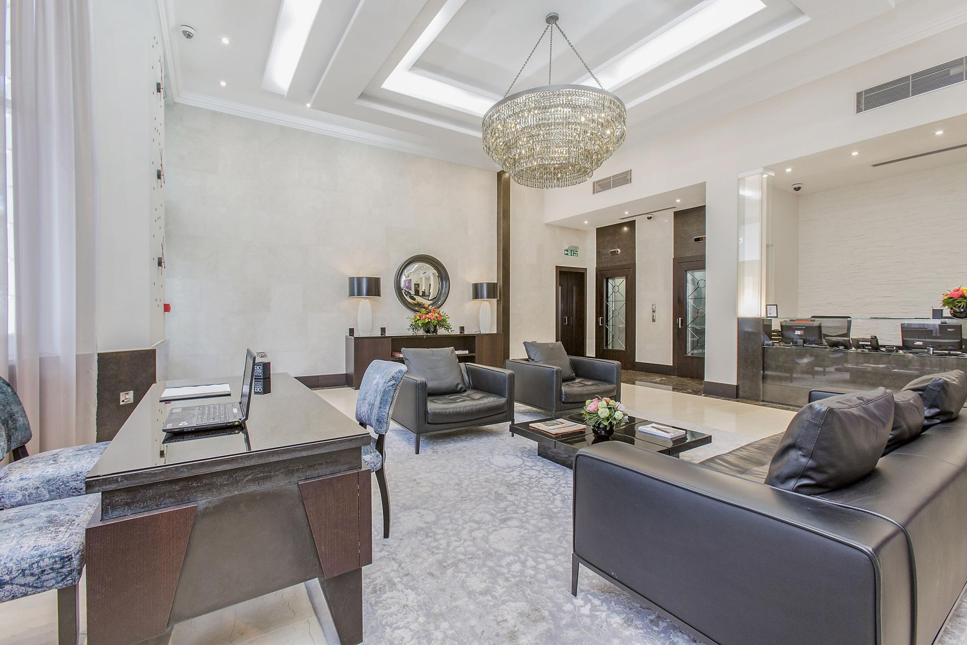 Large living space at 130 Queens Gate Apartments, South Kensington, London - Citybase Apartments