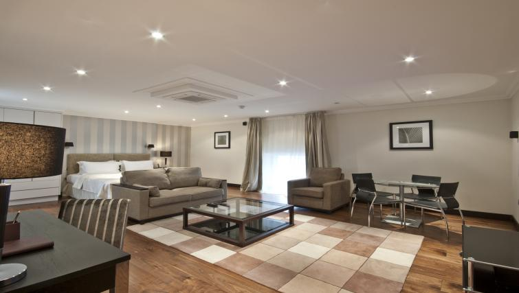Studio living area at 130 Queens Gate Apartments - Citybase Apartments