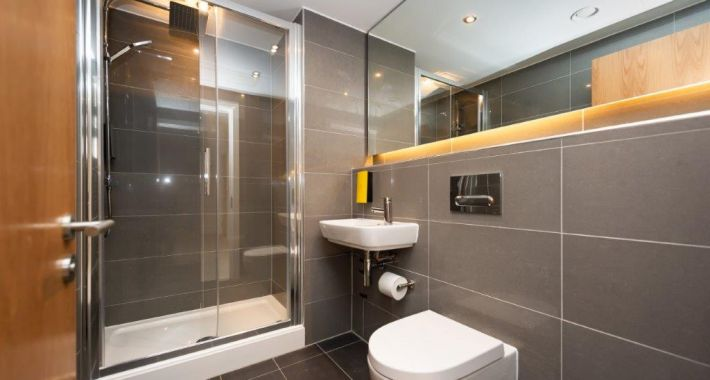 Bathroom at Staycity Manchester Northern Quarter, Ancoats, Manchester - Citybase Apartments