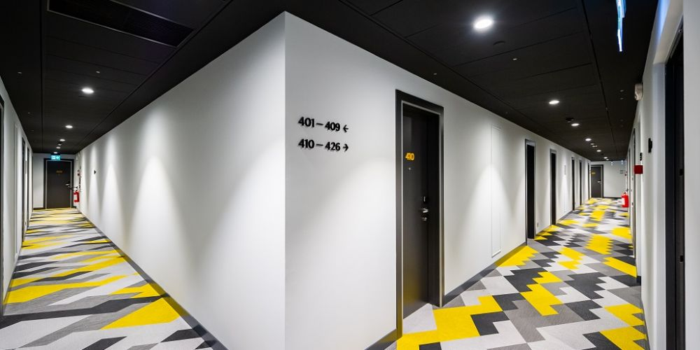 Hall at Staycity Manchester Northern Quarter, Ancoats, Manchester - Citybase Apartments