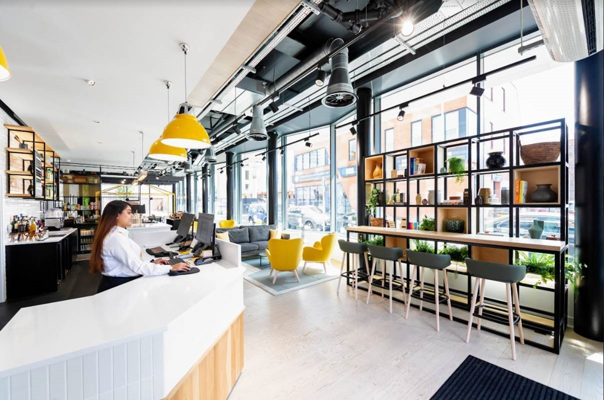 Reception at Staycity Manchester Northern Quarter, Ancoats, Manchester - Citybase Apartments