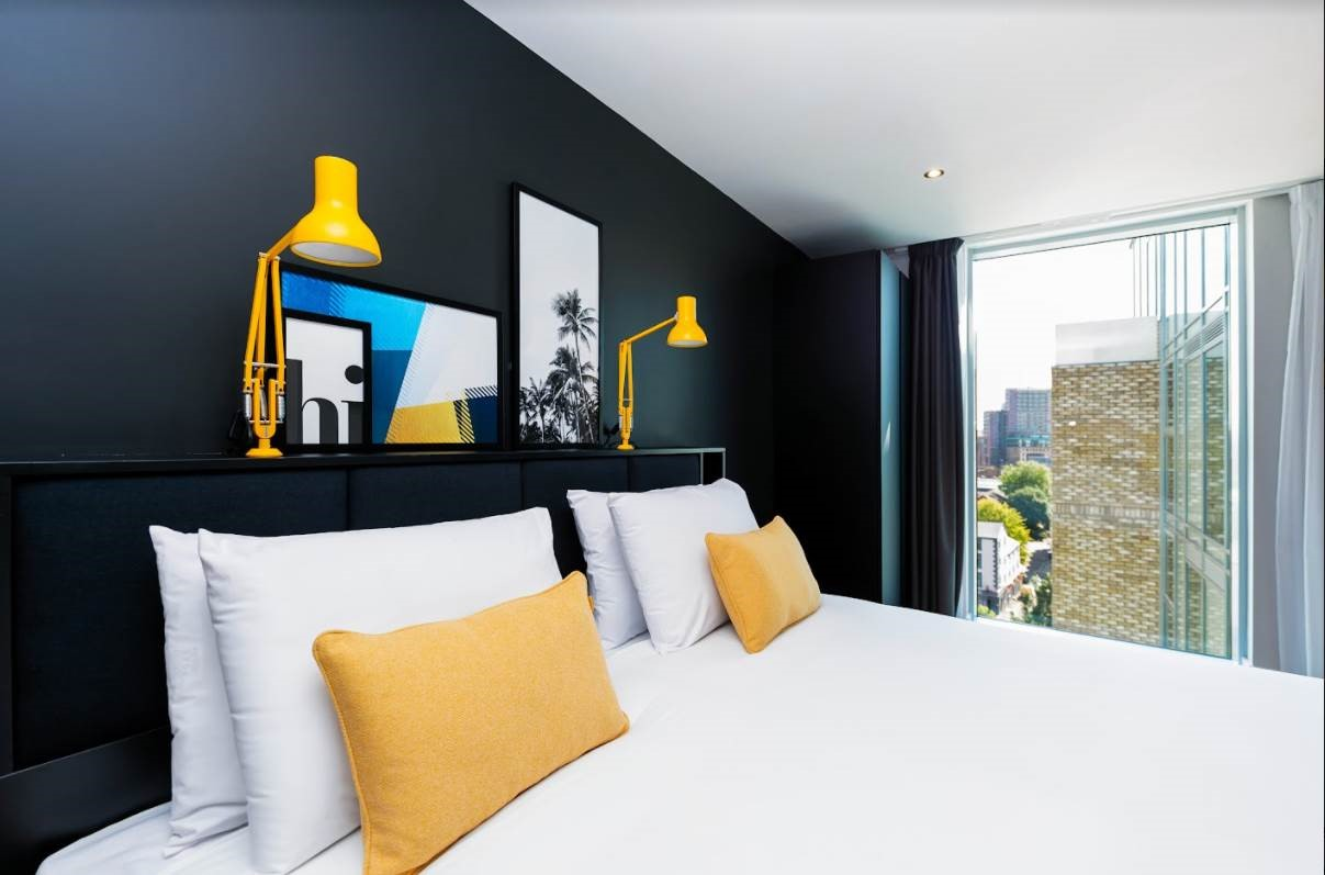 Double bed at Staycity Manchester Northern Quarter, Ancoats, Manchester - Citybase Apartments