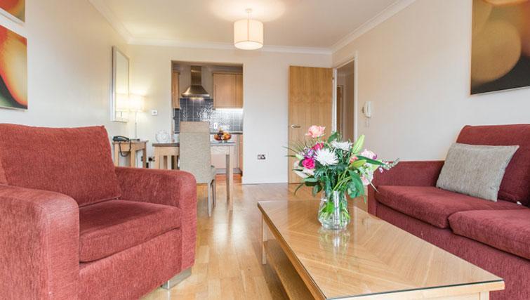 Lounge at Premier Suites Bristol Redcliffe - Citybase Apartments