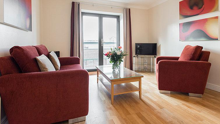 Open plan living area in Premier Suites Bristol Redcliffe Apartments - Citybase Apartments