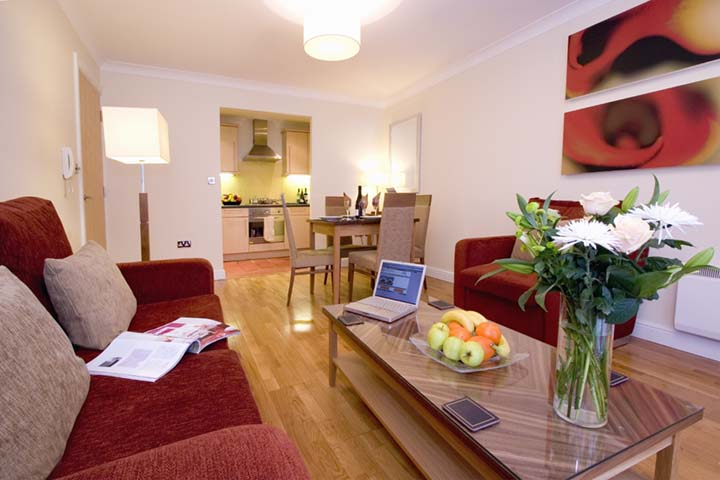 Living room at Premier Suites Bristol Redcliffe Apartments - Citybase Apartments