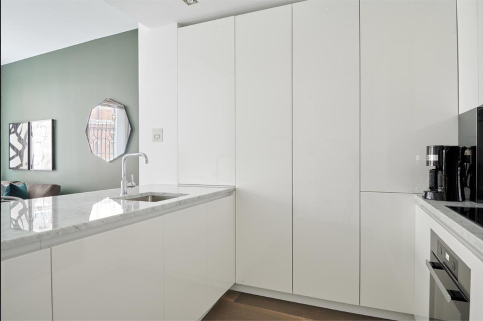 Kitchen at Bell Yard Apartments, City, London - Citybase Apartments
