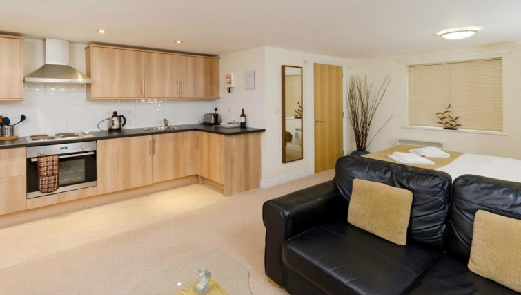 Sophisticated kitchen in Cotham Lawn Apartments - Citybase Apartments