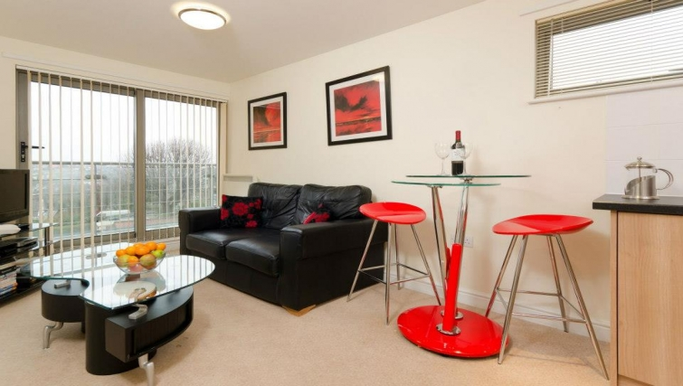 Compact living area in Cotham Lawn Apartments - Citybase Apartments