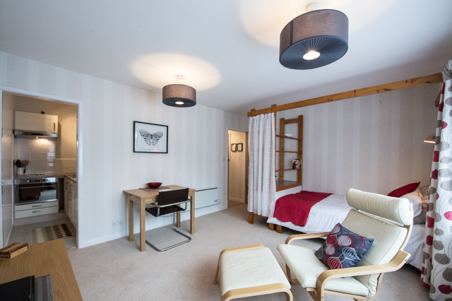 Studio at Oakfield Court Apartment Hotel, Sale, Manchester - Citybase Apartments