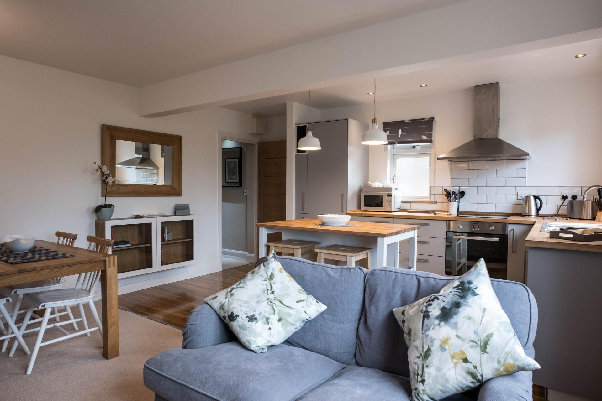Lounge at Oakfield Court Apartment Hotel, Sale, Manchester - Citybase Apartments
