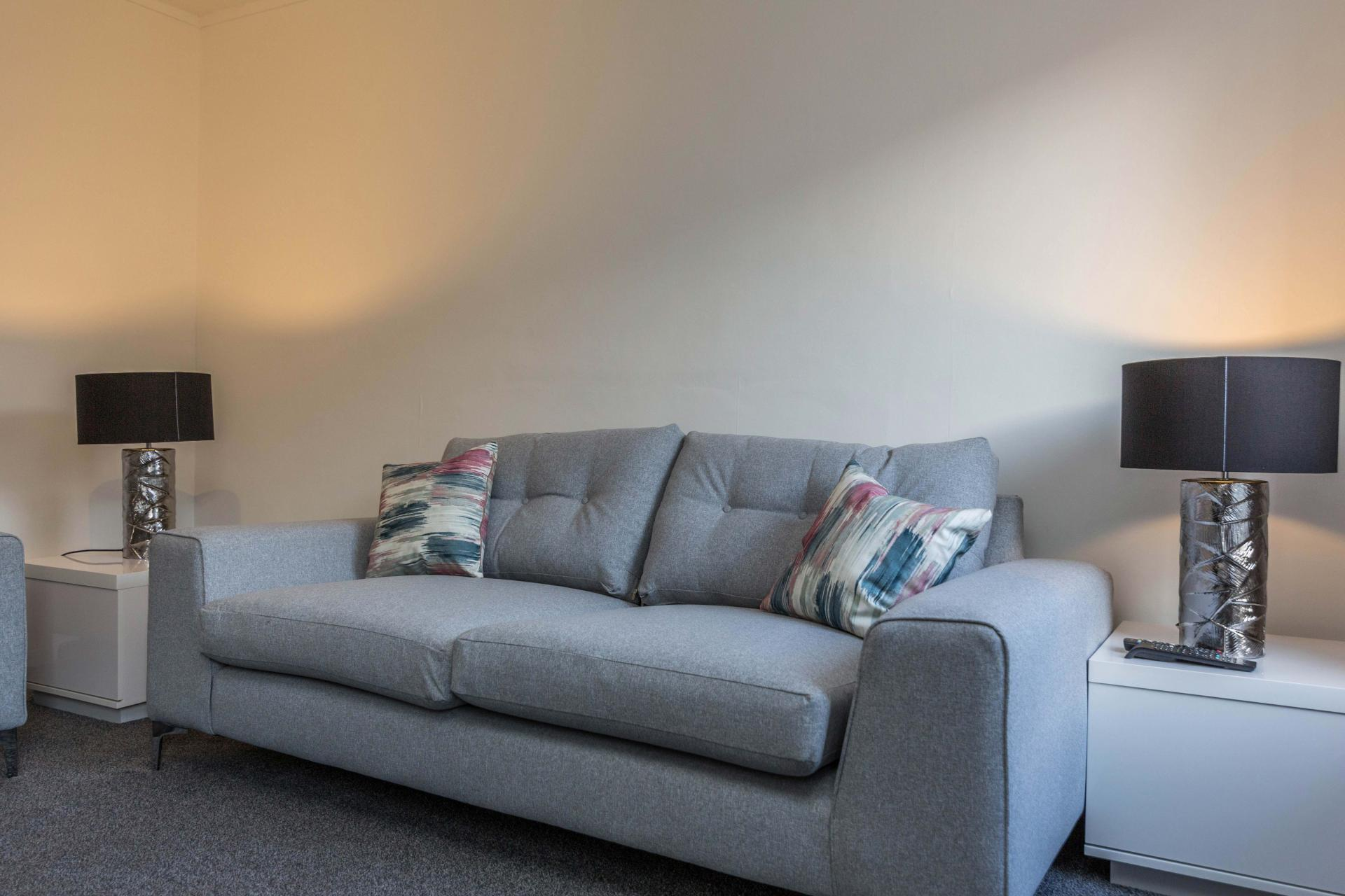 Sofa at Redcliffe Apartment, Mapperley Park, Nottingham - Citybase Apartments