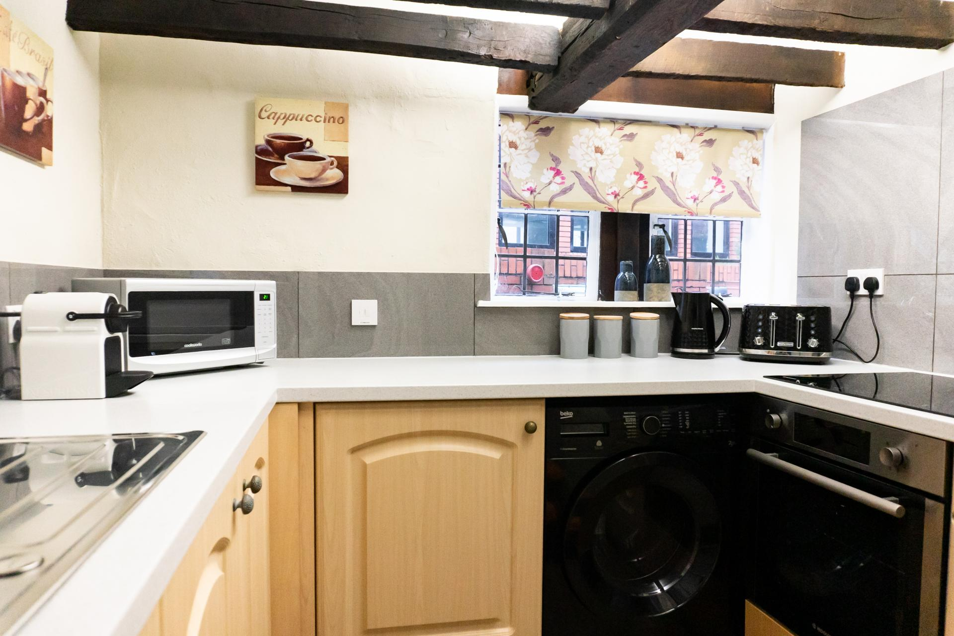 Kitchen at Queen Anne's Court Apartment, Centre, Windsor - Citybase Apartments