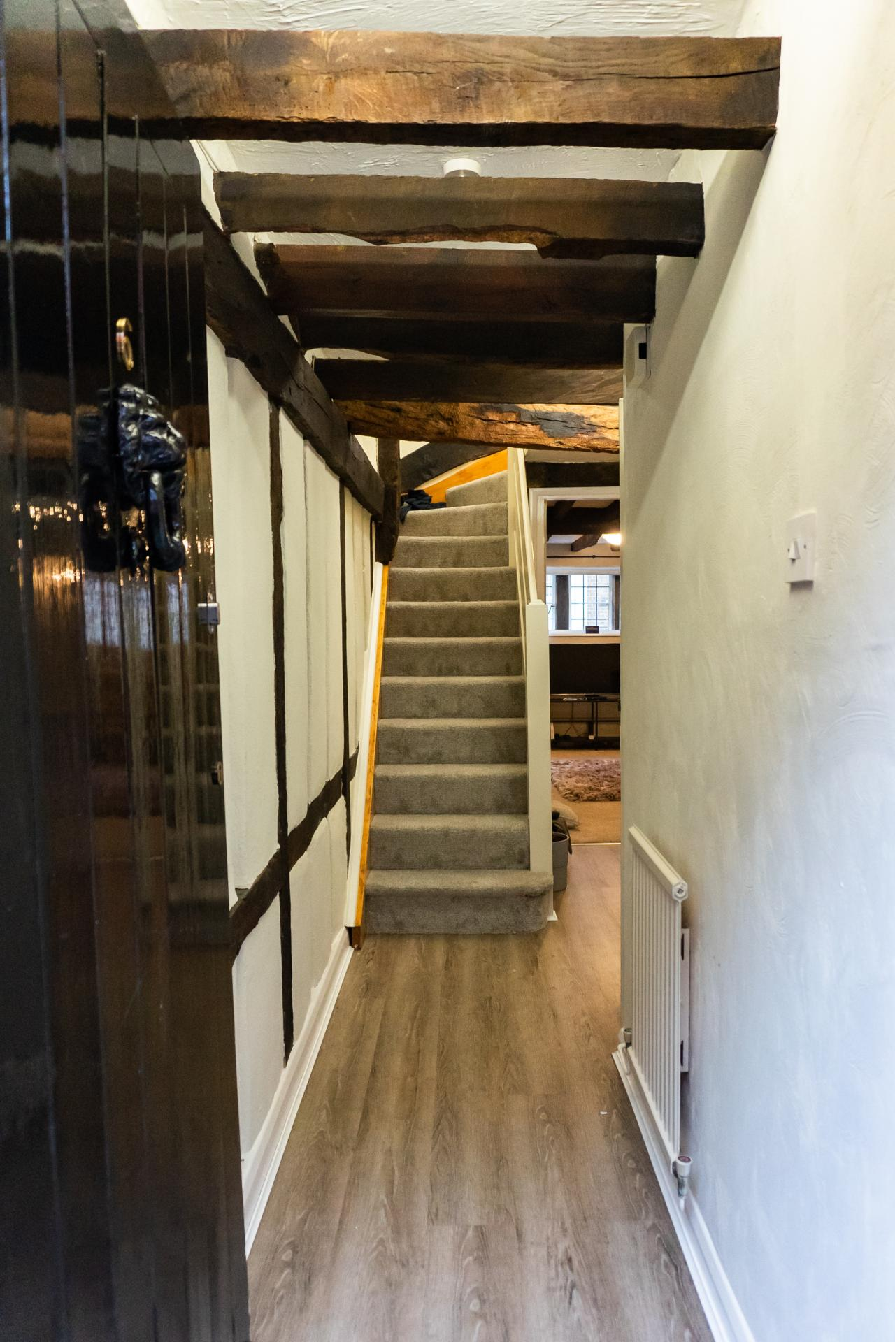 Stairs at Queen Anne's Court Apartment, Centre, Windsor - Citybase Apartments