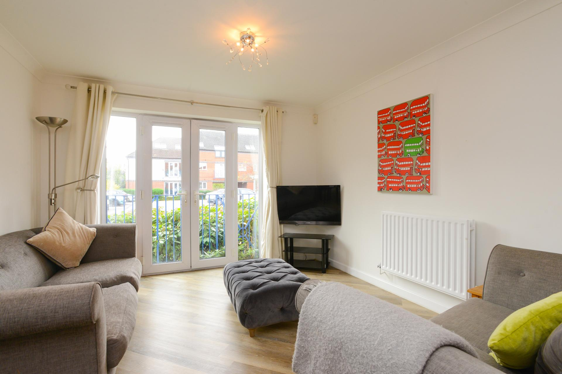 Living area at Edward's Court Apartment, West Bridgford, Nottingham - Citybase Apartments