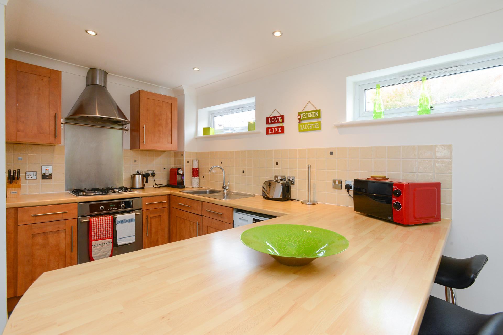 Kitchen at Edward's Court Apartment, West Bridgford, Nottingham - Citybase Apartments