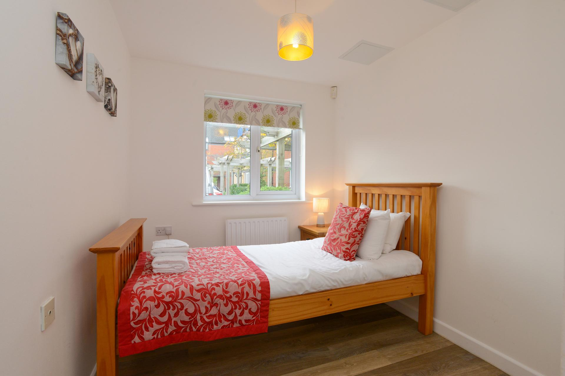 Bed at Edward's Court Apartment, West Bridgford, Nottingham - Citybase Apartments