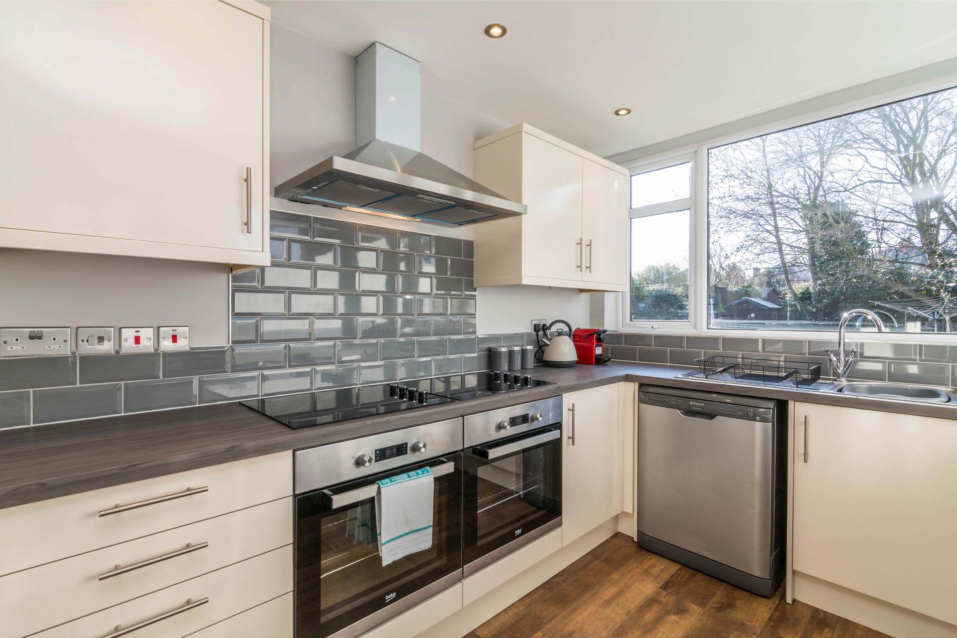 Kitchen at Charnwood House, Sawley, Nottingham - Citybase Apartments