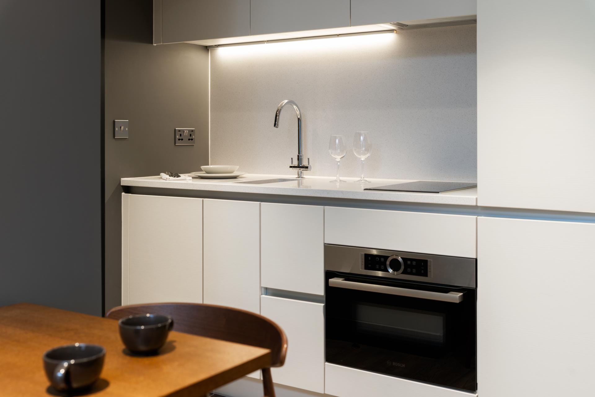 Kitchen at The Gate Apartments, Whitechapel, London - Citybase Apartments