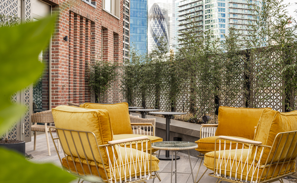 Roof terrace at The Gate Apartments, Aldgate, London - Citybase Apartments