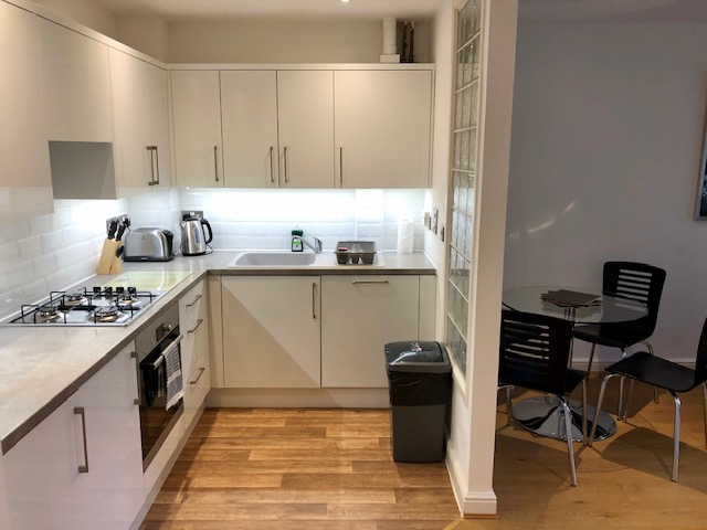 Kitchen at Elmhurst Court Apartments, Centre, Camberley - Citybase Apartments