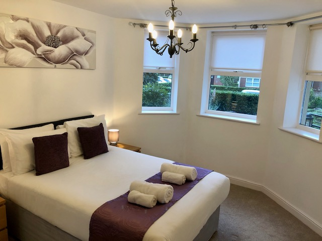 Bedroom at Elmhurst Court Apartments, Centre, Camberley - Citybase Apartments