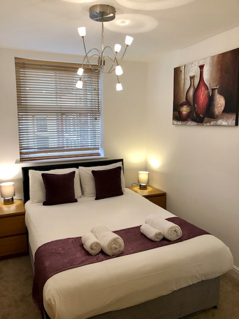 Bed at Elmhurst Court Apartments, Centre, Camberley - Citybase Apartments