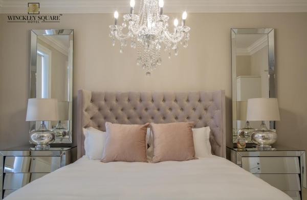 Stylish bed at Winckley Square Hotel, Centre, Preston - Citybase Apartments