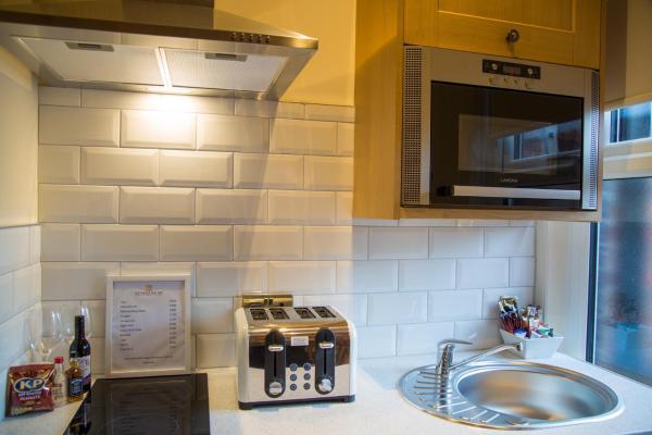 Kitchen at Winckley Square Hotel, Centre, Preston - Citybase Apartments
