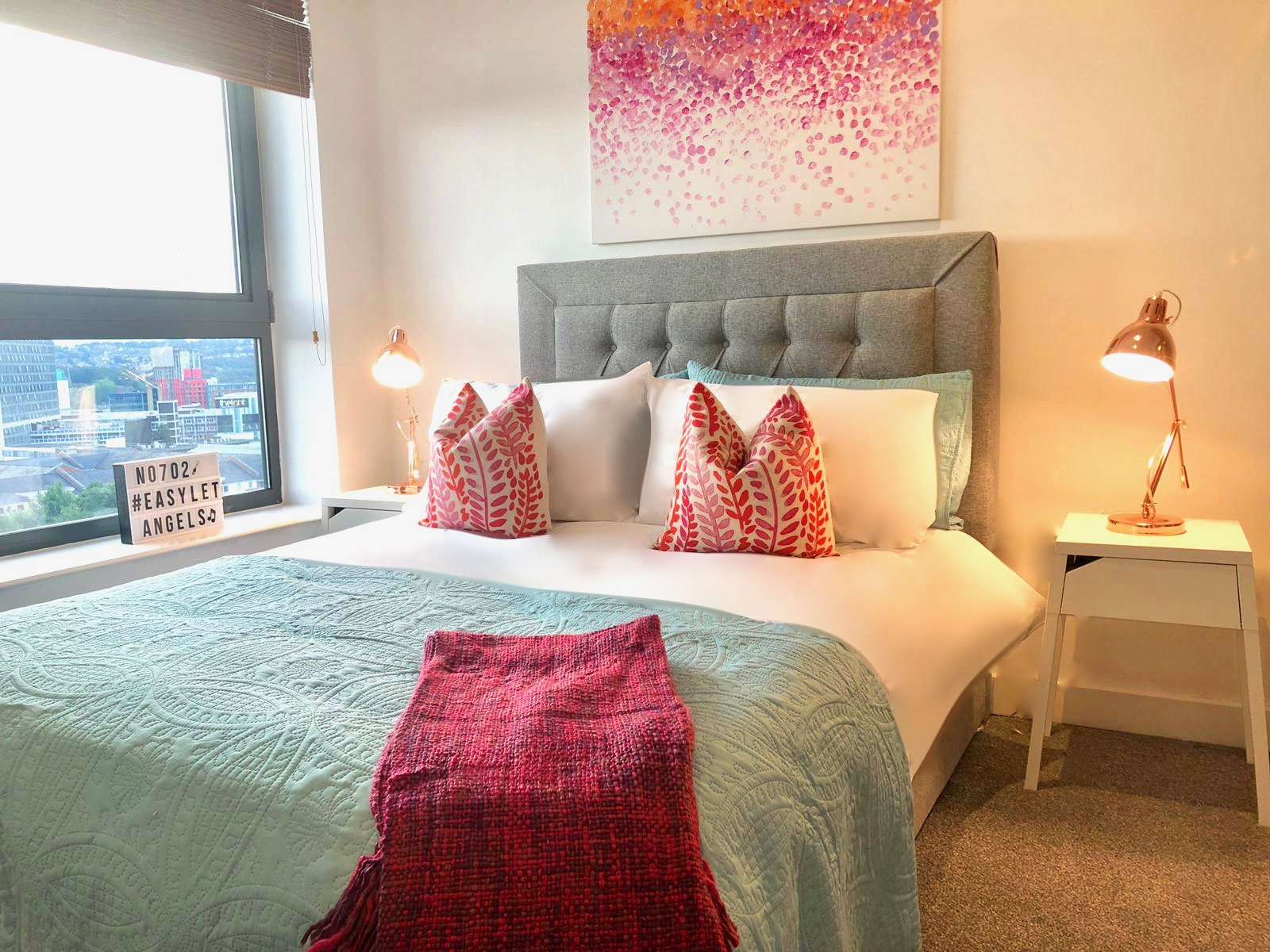 Bedroom at West One Apartment, Centre, Sheffield - Citybase Apartments