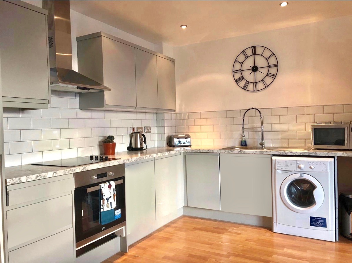 Kitchen at West One Apartment, Centre, Sheffield - Citybase Apartments