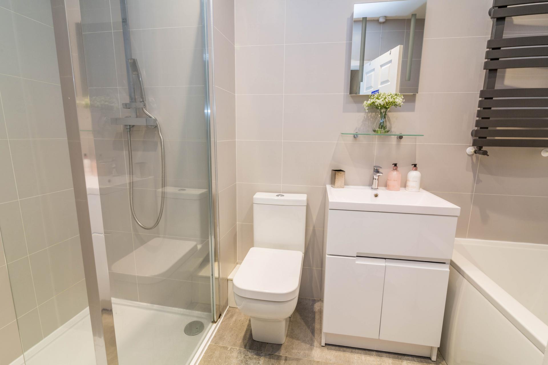 Bathroom at Mapperley House, Mapperley Park, Nottingham - Citybase Apartments