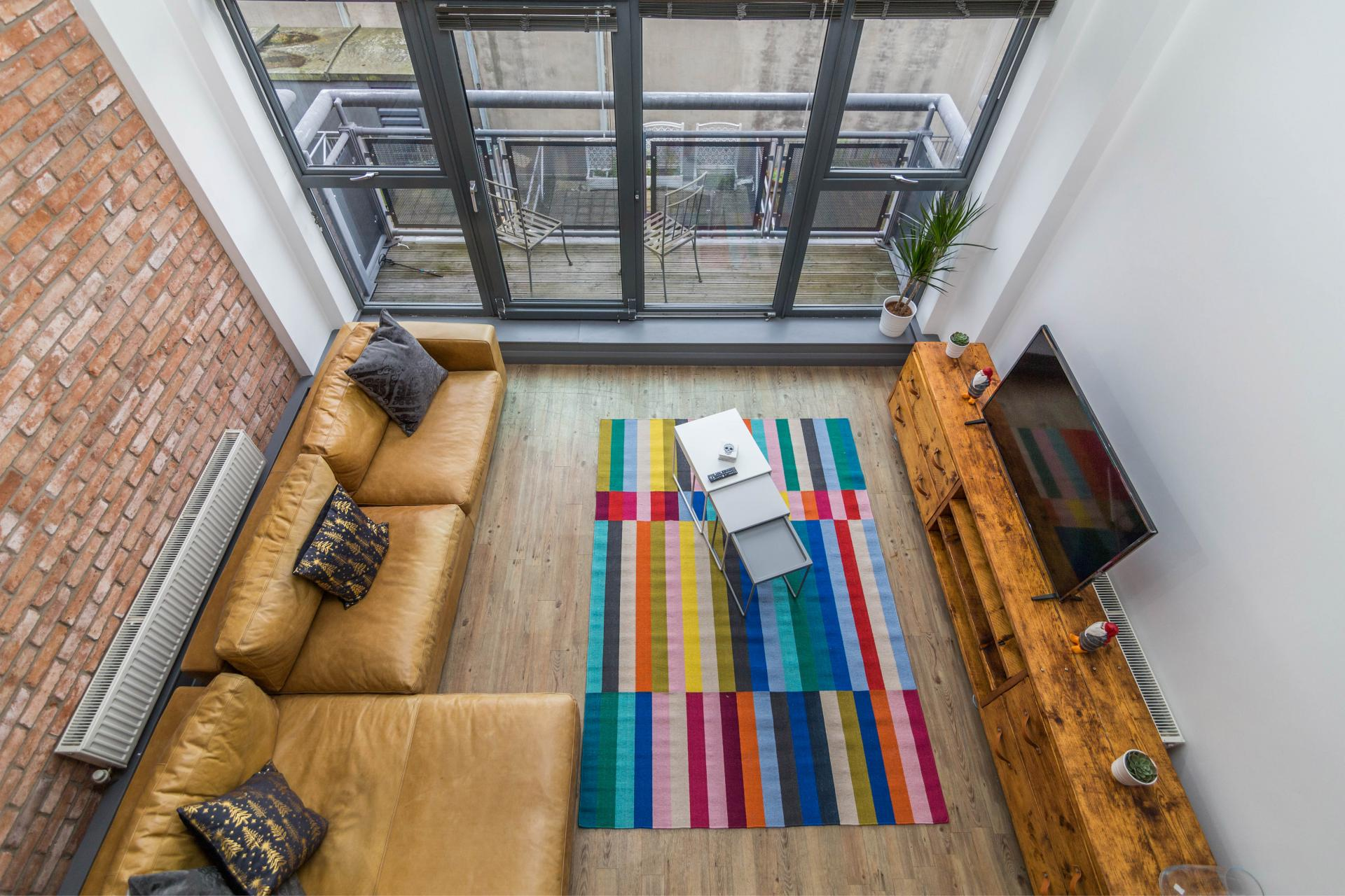 Birds eye view of Crusader House Apartment, Hockley, Nottingham - Citybase Apartments
