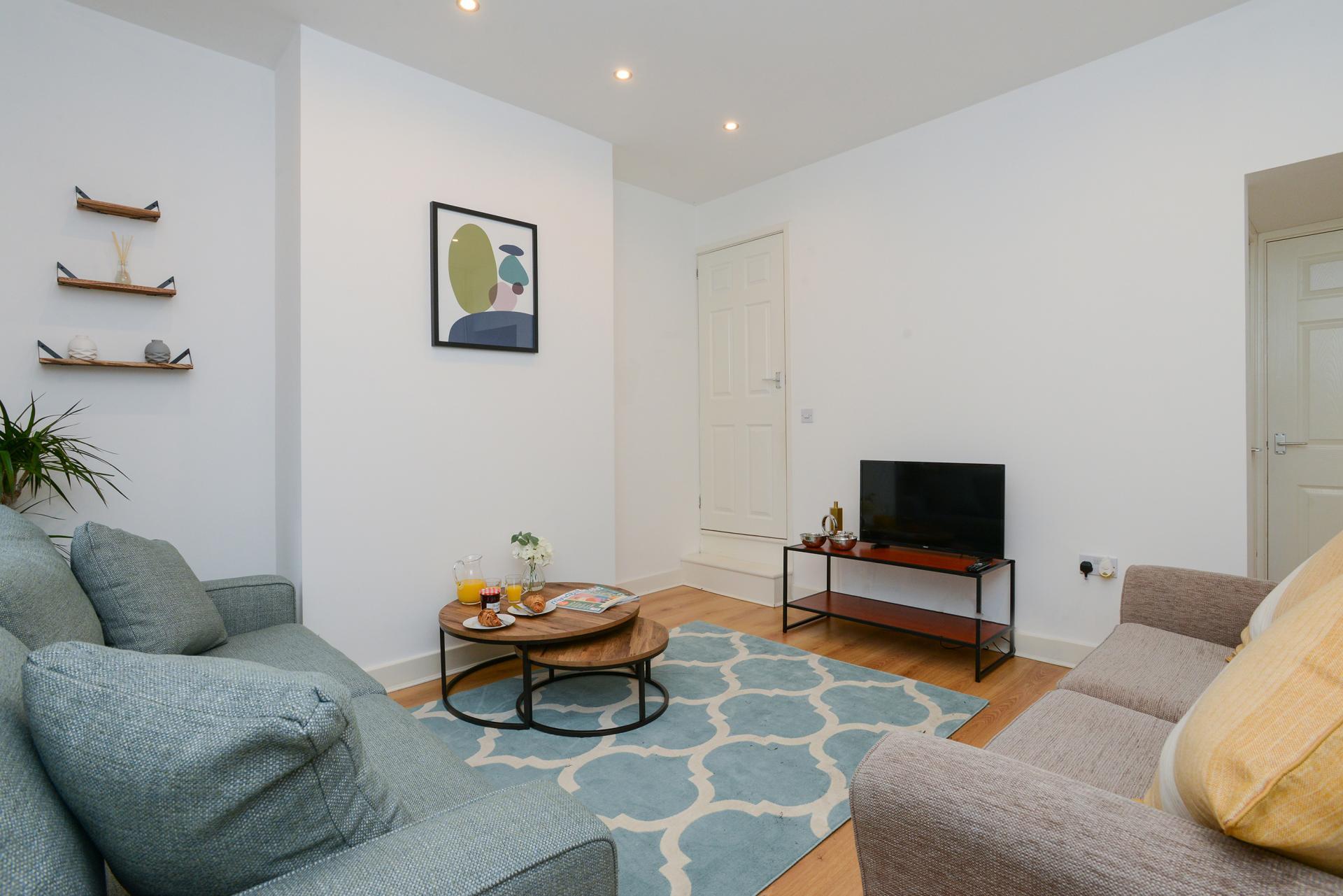 Living area at Beeston House, Beeston, Nottingham - Citybase Apartments