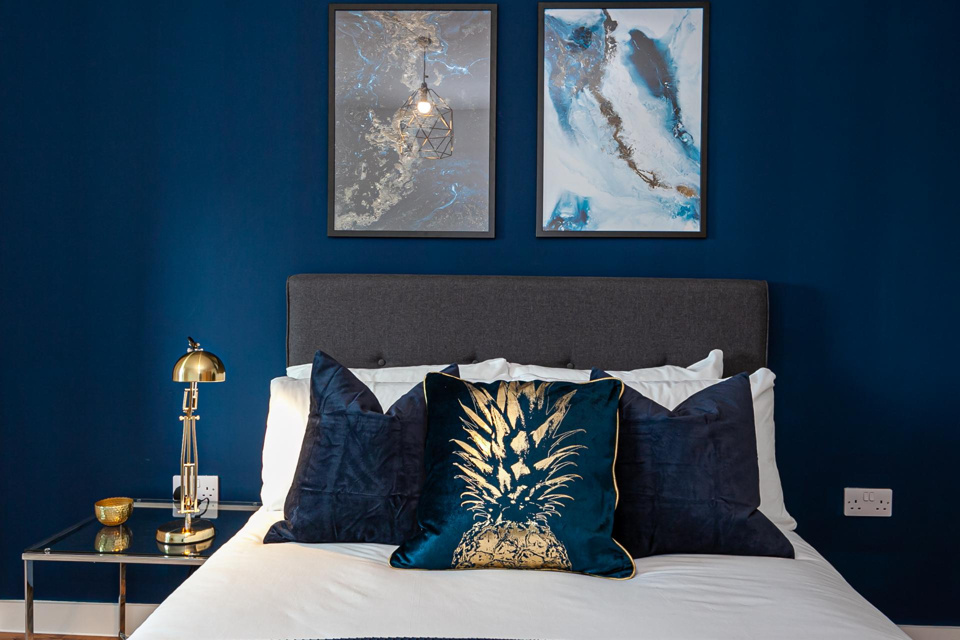 Bedding at Michigan Point Tower, Ordsall, Manchester - Citybase Apartments