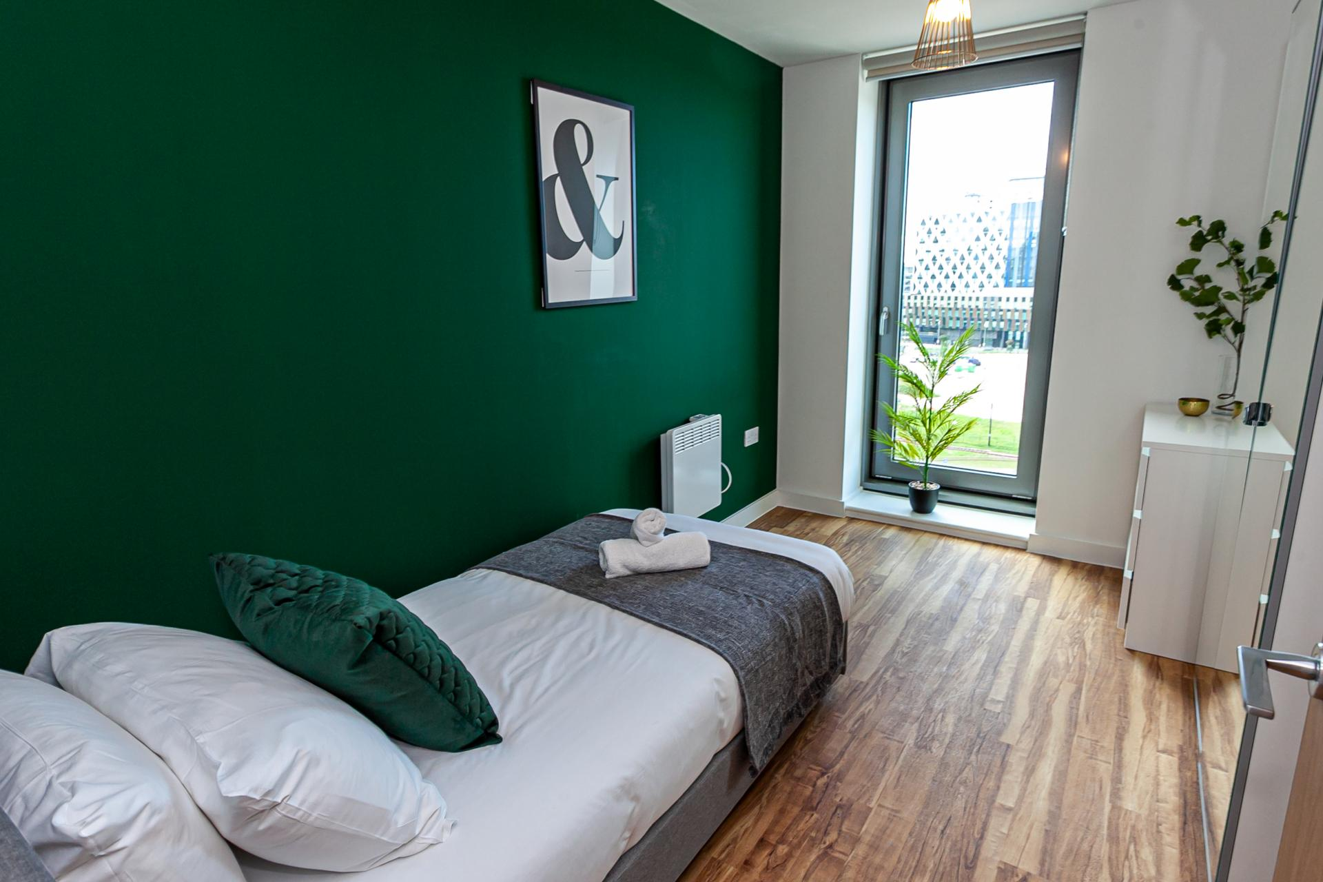 Single bed at Michigan Point Tower, Ordsall, Manchester - Citybase Apartments