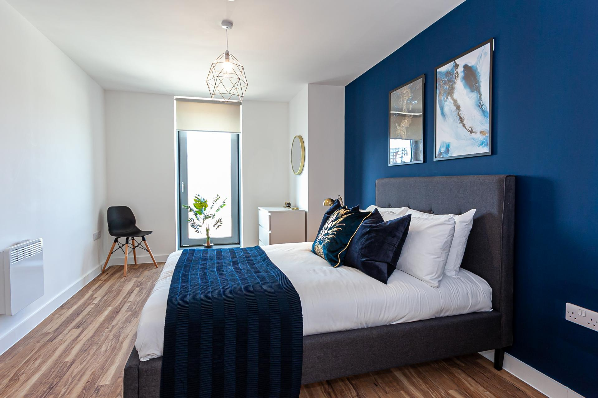 Bed at Michigan Point Tower, Ordsall, Manchester - Citybase Apartments