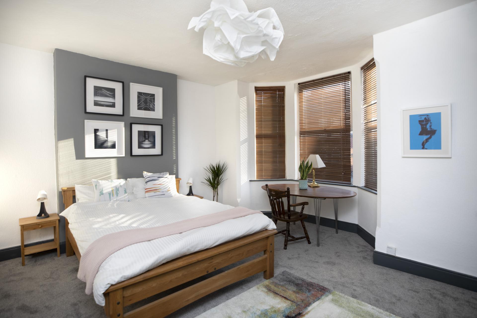Bedroom at Nottingham Arthouse, Sneinton, Nottingham - Citybase Apartments