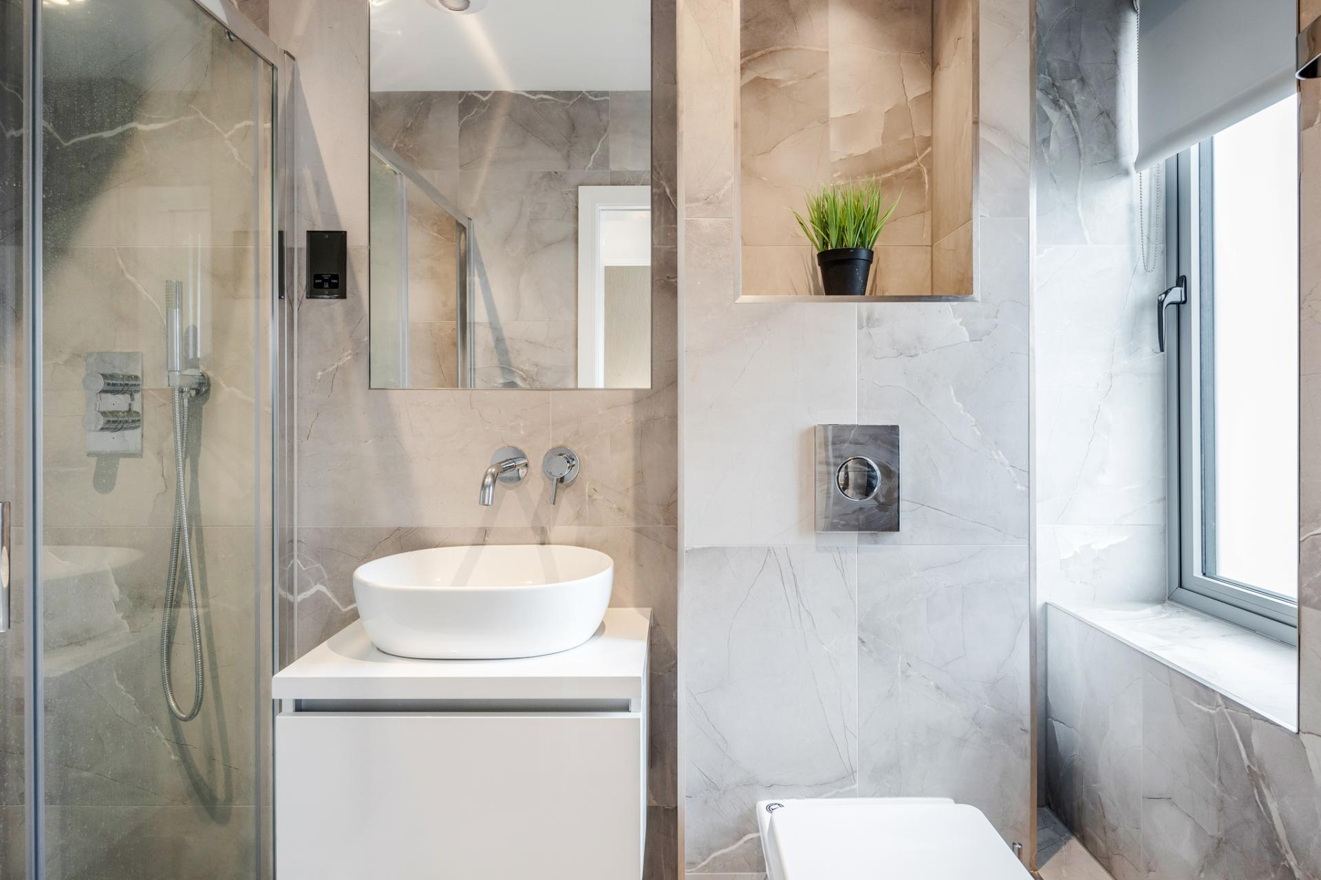 Bathroom at Dudley House Apartments, Brentford, London - Citybase Apartments