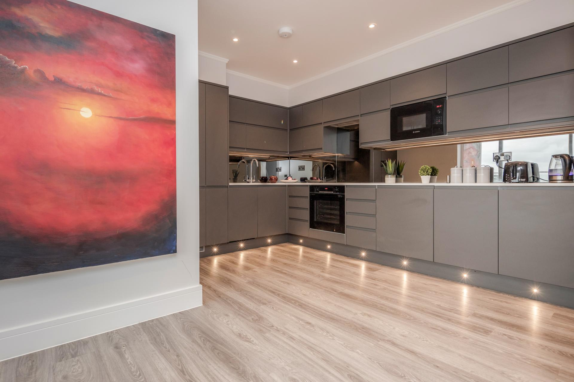 Kitchen at Dudley House Apartments, Brentford, London - Citybase Apartments