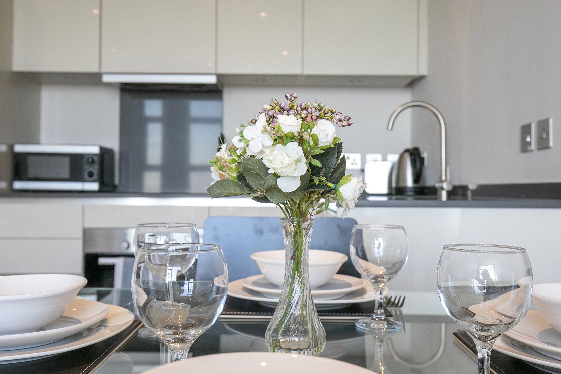 Dining table at The View Apartments, Centre, Sunbury - Citybase Apartments
