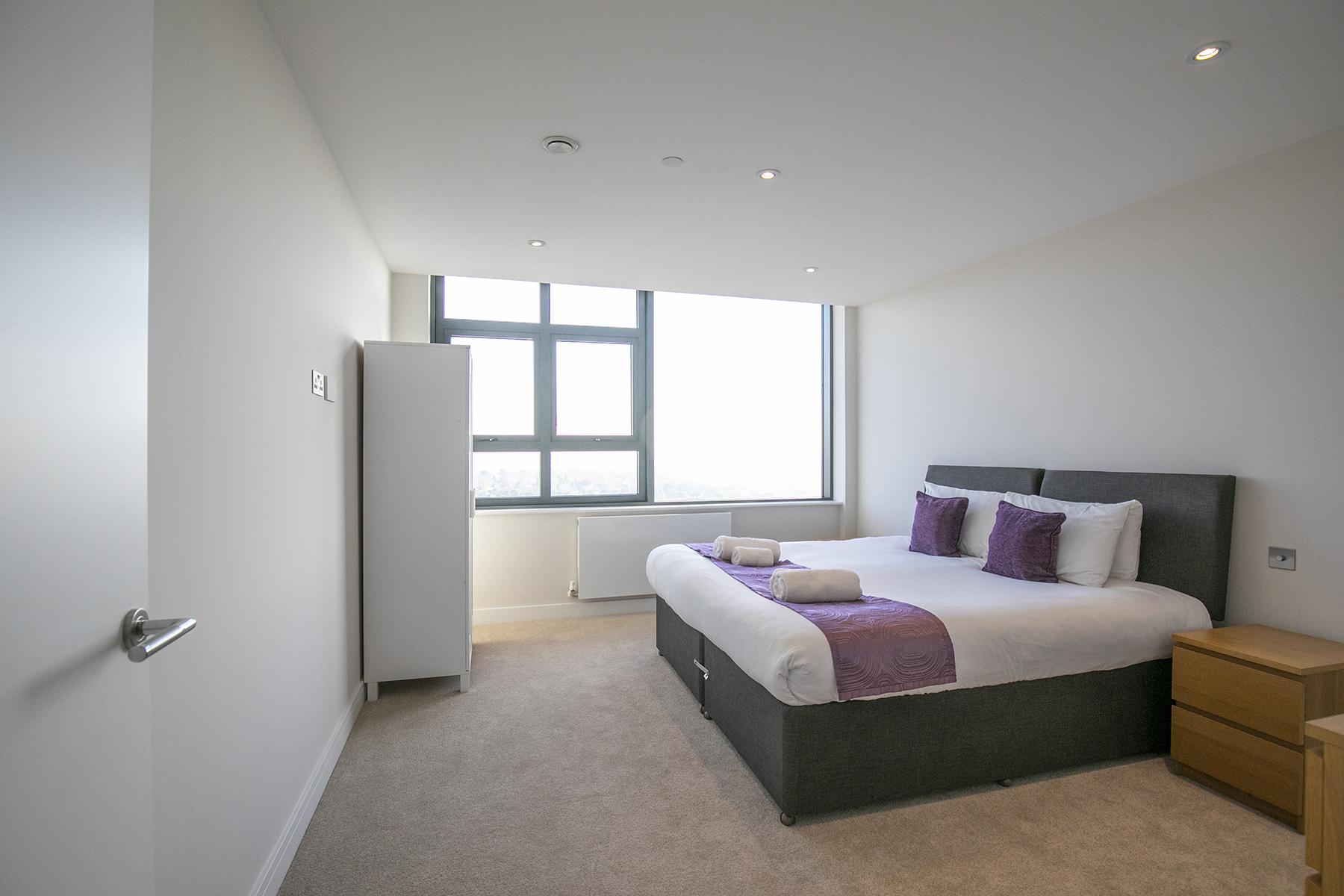 Bedroom at The View Apartments, Centre, Sunbury - Citybase Apartments