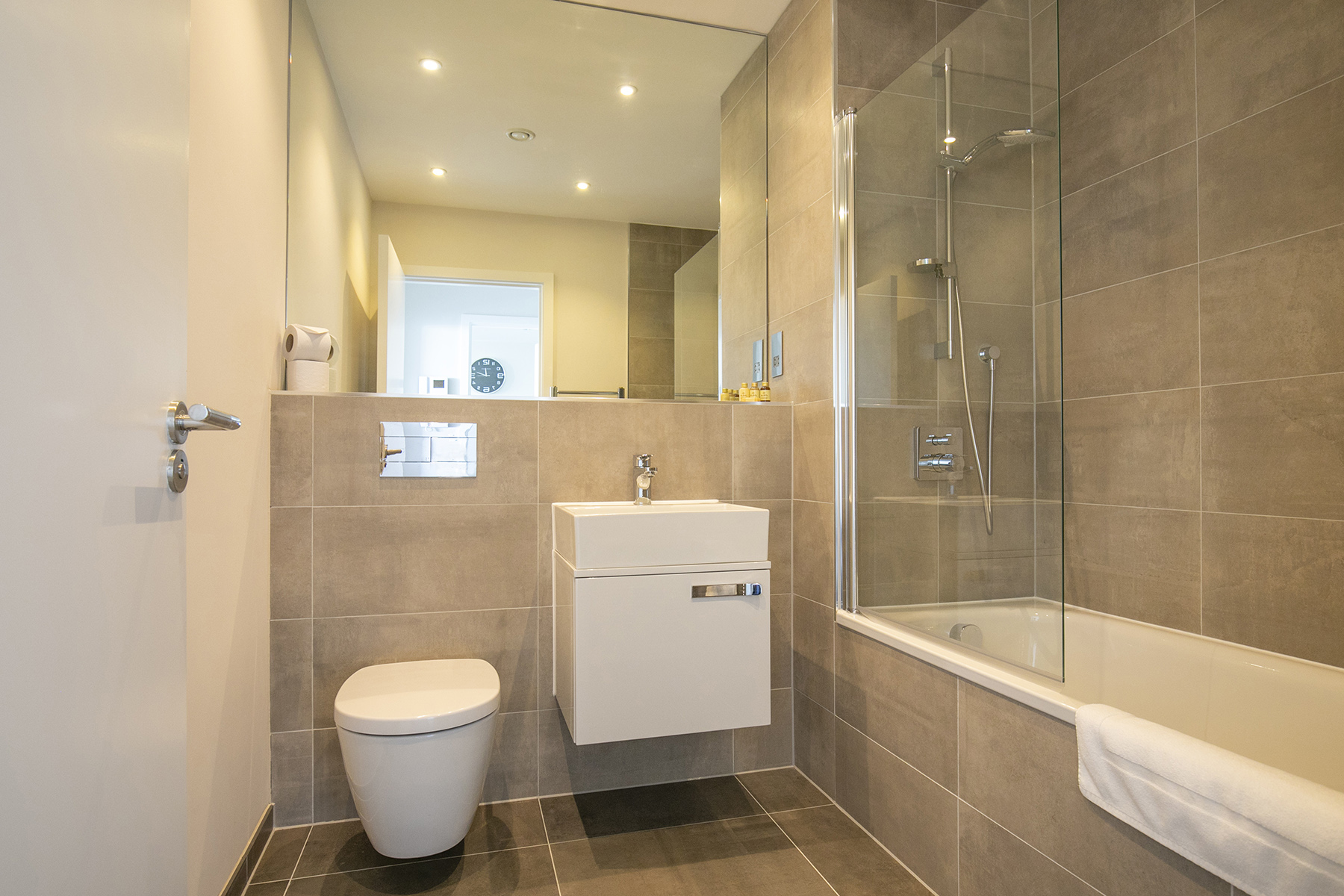 Bathroom at The View Apartments, Centre, Sunbury - Citybase Apartments