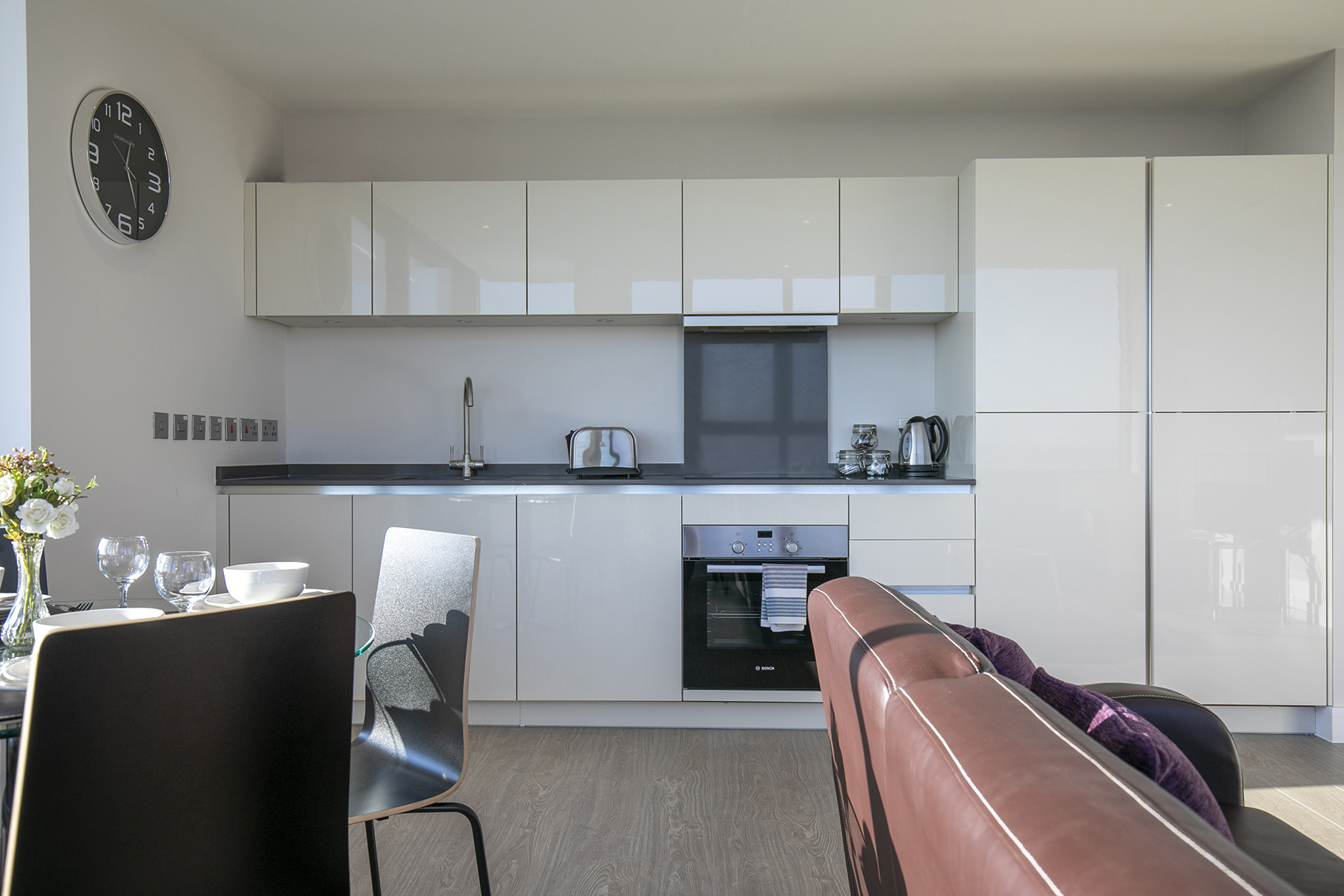 Kitchen diner at The View Apartments, Centre, Sunbury - Citybase Apartments