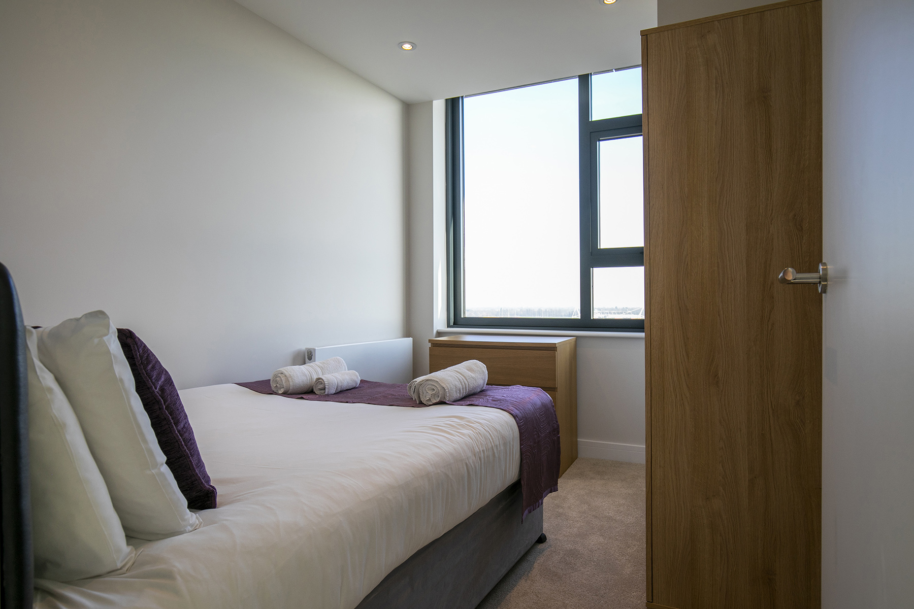 Second bedroom at The View Apartments, Centre, Sunbury - Citybase Apartments