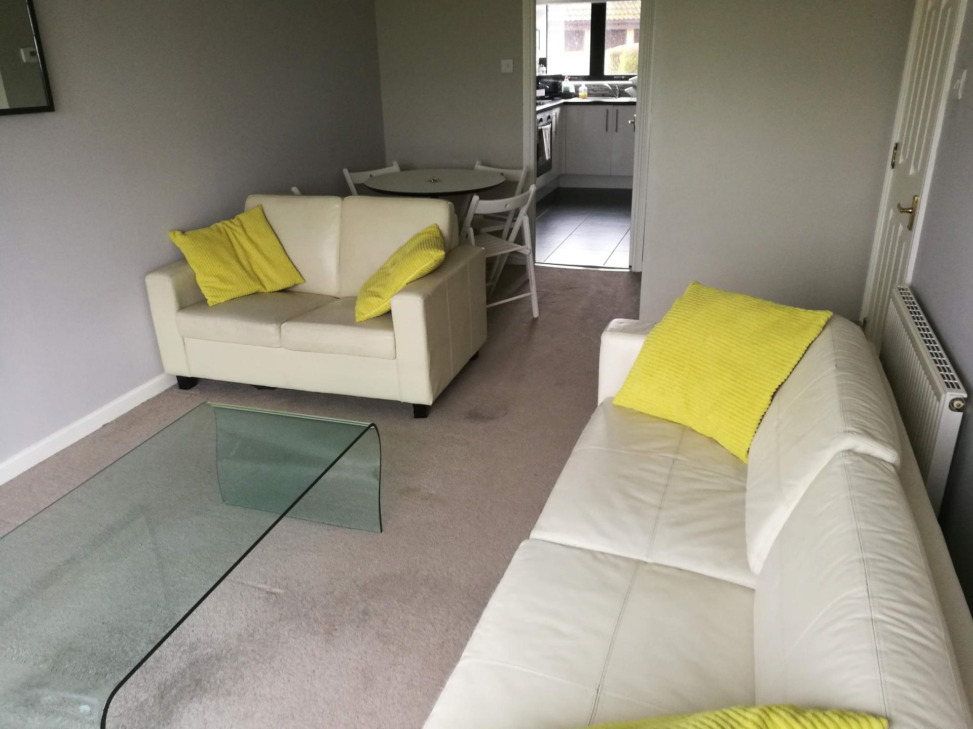 Living Room at Glasgow Pacific Quay Apartments, Kinning Park, Glasgow - Citybase Apartments